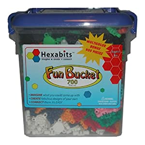 Hexabits Fun Bucket 900 Piece Construction Set