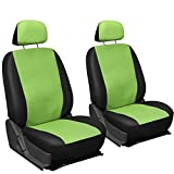 Oxgord Leatherette Bucket Seat Cover Set for Car/Truck/Van/SUV, Green & Black