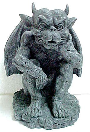 """The Thinker"" Gargoyle Sculpture Statue Thinking"