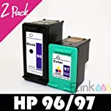 51BKAd9bCML. SL160  2 pk HP 96 97 Ink Cartridge C8767WN C9363WN HP96 HP97 For OfficeJet 7210 7210v 7210xi 7410 7410xi 7310 7310xi Deskjet 5940 5940xi 5740 5740xi 5743 5745 5748 6520 6520xi 6540 6540dt 6540xi 6620 6830v 6620 6830 6840 6840dt 6840xi 6940 6940dt 6980 6980dt 9800 9800d 6988 6988dt 460 460c 460wbt 460wf PhotoSmart 2613 8750xi 2610v 2608 8750gp 8758 2610 8150 8150v 8150xi 8450 8450xi B8350 2605 8750 8753 PSC 1600
