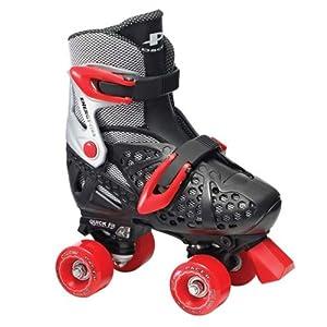 Pacer XT70 Boys Black Adjustable Quad Kids Roller Skates by Pacer