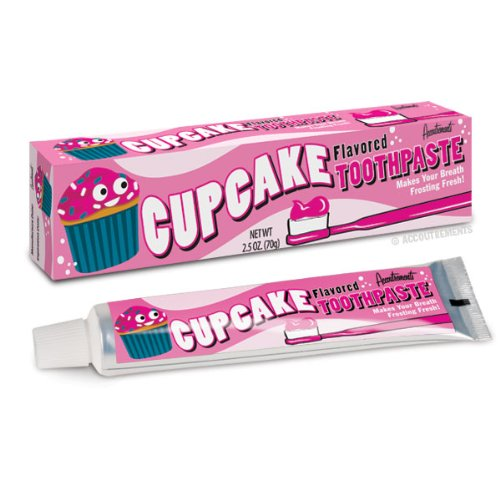 Accoutrements Sweet Cupcake Frosting Flavored Toothpaste, 2.5 oz