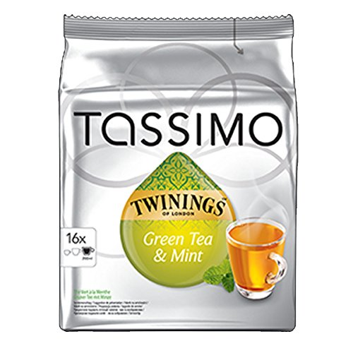Purchase Factory Sealed Pack Tassimo T-Disc Pods Twinings Green Tea & Mint - Bumper Pack 16 Servings by Tassimo