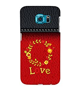 Life full of love 3D Hard Polycarbonate Designer Back Case Cover for Samsung Galaxy S6 Edge :: Samsung Galaxy Edge G925
