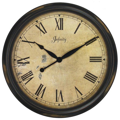 Infinity Instruments 24-Inch Resin Wall Clock