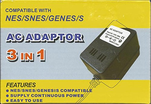 NES/SNES/GENESIS 1 AC ADAPTER [video game] (Ac Adapter For Nintendo Nes compare prices)