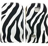 Fi9® SAMSUNG GT-S5570 GALAXY MINI FLIP ZEBRA SUEDE PU LEATHER CASE COVER POUCH + SCREEN PROTECTOR
