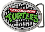 TMNT Cartoon TV Series Sewer Plate Logo Rockstar Belt Buckle