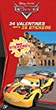 Disney Pixar Cars 34 Valentines Cards with Stickers