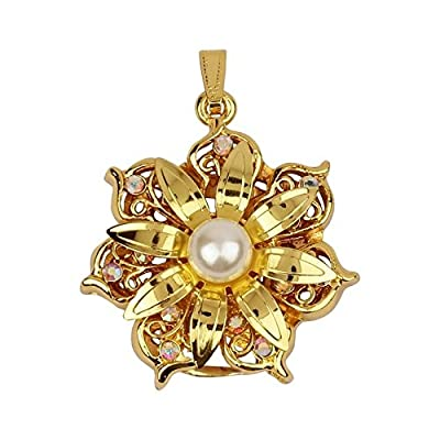 Quace Gold Flower 16 GB USB Pen Flash Drive
