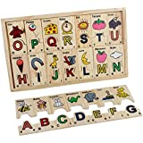 Spanish ABC Wooden Alphabet Puzzle Blocks