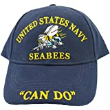 Eagle Emblems Men's United States Navy Seabees Hat
