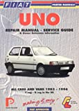 Fiat Uno Repair Manual, Service Guide and Owner Reference Information (Porter Manuals) Lindsay Porter