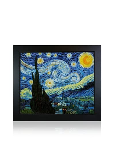 Vincent Van Gogh's Starry Night Framed Hand Painted Oil On Canvas