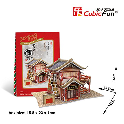Cubicfun Cubic Fun 3d Puzzle Model China Flavor Longxiang Tavern 16.5cm - 1