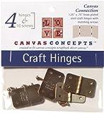 "Decor Canvas Craft Hinges-Brass 1.25""X.75"" 4/Pkg"