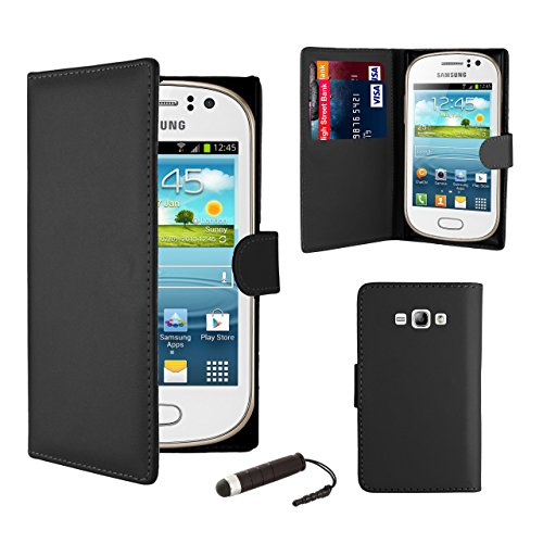 Click to buy 32nd® Book wallet PU leather case cover for Samsung Galaxy Fame S6810, including screen protector, cleaning cloth and touch stylus - Black - From only $23.42