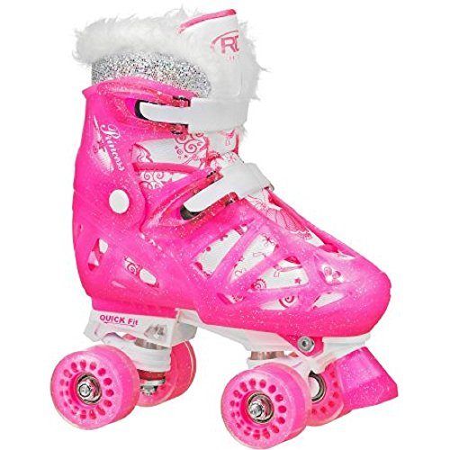 Soft-and-Comfortable-Roller-Derby-RD-Quad-Princess-Adjustable-Roller-Skates-M-3-6