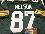 Jordy Nelson Autographed Signed Green Bay Packers Custom Jersey Certified Authentic Hologram & Coa Card w/photo from signing