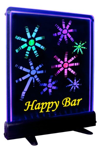 Led Fluorescent Menu Drawing/Writing Boards - Colorful Birthday Party Decorat