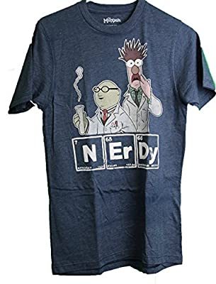 Disney The Muppets Bunson & Beaker NERDY Adult Men's T-Shirt Small