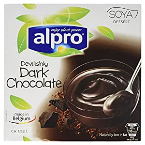 Alpro devilishly dark chocolate 4x125g for Alpro soya cuisine light