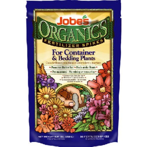 Jobe's Organic Container & Annuals Fertilizer Food Spikes - 50 Pack 6128