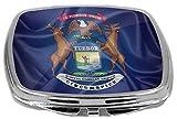 Rikki Knight Flag Design Compact Mirror, Michigan State, 3 Ounce