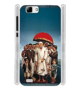 Lord Shirdi Sai Baba Sab Ka Malik Ek Soft Silicon Rubberized Back Case Cover for Vivo V1