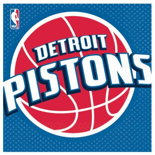 Detroit Pistons Lunch Napkins - 1