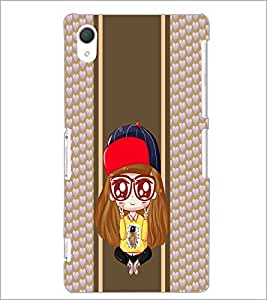 PrintDhaba Cartoon D-4827 Back Case Cover for SONY XPERIA Z3 (Multi-Coloured)