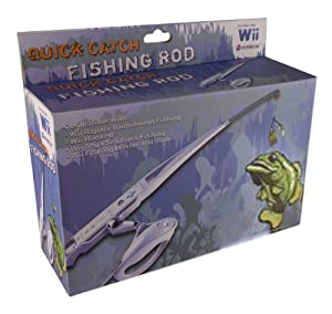 Wii fishing rod with reel video games for Wii fishing rod