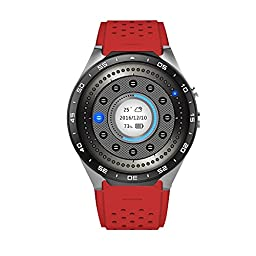 GH Brothers Smart Watch Cell Phone Andriod OS 5.1Ver Transflective Display - Red