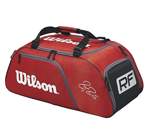 Wilson Federer Team III Red Tennis Bag, Red (Holds 6 Racquets)