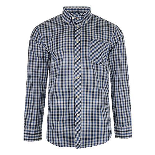 ben-sherman-shirt-medium-check-long-sleeved-ma11237-dark-blue-large