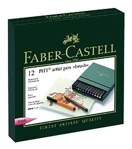 FABER-CASTELL PITT ARTIST PEN 12er BRUSH Atelierbox