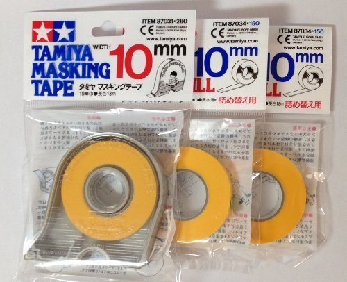 TAMIYA 10mm Masking Tape with 2pcs Refill