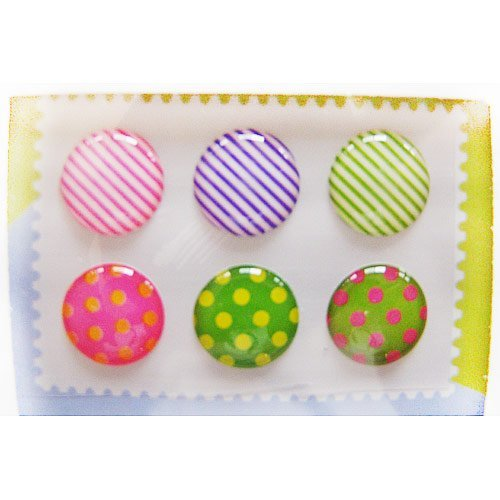 """""""Home"""" Button Sticker for iphone/ipad/itouch, Rainbow, 6 Stickers"""