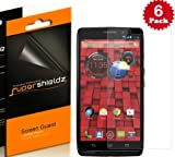 SUPERSHIELDZ- High Definition (HD) Clear Screen Protector For Motorola Droid Ultra (Verizon) + Lifetime Replacements Warranty [6-PACK] - Retail Packaging