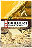 Clif Builders Bar Crunchy Peanut Butter, 2.4 oz bar, 12 Count