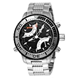 Tx T3c407 World Time Multifunctional Bracelet Watch With Silver Accents