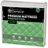 "Mattress Protector by Deneve® - White, 60""W x 80""L x 18""D - Fits Mattress Depths from 6"" to 18"" - Our Mattress Covers are Premium Hypoallergenic - 100% Waterproof Mattress Cover - Bed Bug Mattress Cover - Waterproof Mattress Protector - Mattress Topper - Waterproof Bed Protector - Bed Bugs Mattress Cover - Topper - Bed Bug Mattress Protector - Bed Mattress Cover - Guard Yourself Against Bed Bug, Dust Mite, Liquids, Allergy Agents - Terry Cloth Top Combined with Protective Barrier Underneath Provides Ultimate Comfort, Absorbency, Protection and Breathability - Your Purchase Supports Charity - 15 Year Warranty!"