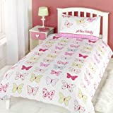 CUTE QUALITY COTTON BUTTERFLY PINK SINGLE DUVET SET QUILT COVER #HGIH PU YLF