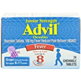Advil Junior Strength, Chewable Tablets, Grape, 24 Count (Pack of 2)