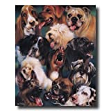 Puppy Dog Collage Kids Room Home Decor Wall Picture 16x20 Art Print