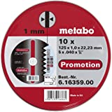 Metabo Promotion Trennscheiben 125x1,0x22,23 Inox, 10 Stück in Blechdose