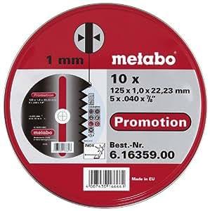 Metabo - Disque à tronçonner - Acier inoxydable - 125 x 1 mm - Lot de 10 (Import Allemagne)