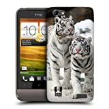 Head Case Designs Two White Tigers Famous Animals Hard Back Case Cover for HTC One V
