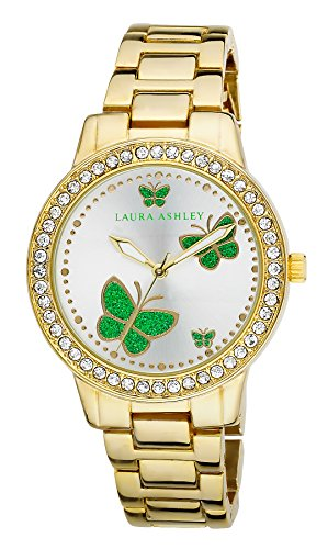 Laura Ashley Women's LA31015YG Analog Display Japanese Quartz Gold Watch