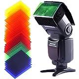 """Neewer® 1.85"""" x 3.03""""/47 x 77 mm 35PCS Kit de Filtre Gel Carré Couleur Equilibré Complet Photographie Universel Flash avec Sangle pour Canon Nikon Sony Pentax Olympus et les Autres Flashs"""